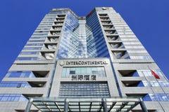 Międzykontynentalny hotel przeciw niebieskiemu niebu, Pekin, Chiny Obraz Stock