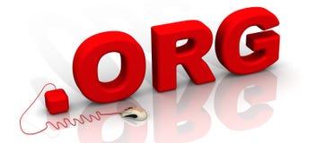 Międzynarodowa domena org Zdjęcia Stock