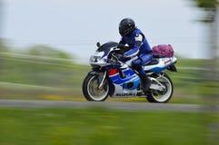 Międzynarodowa droga Żadny 6, 2015-05-16, motocykl Obrazy Royalty Free