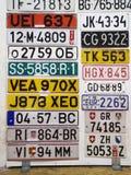 Międzynarodowe tablicy rejestracyjne Zdjęcie Stock