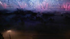 Międzynarodowy fajerwerku festiwal w Moskwa & x28; Porcelanowy speech& x29; Fotografia Stock