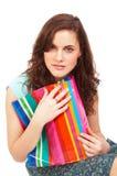 miłe dziewczyny torby na zakupy Fotografia Stock