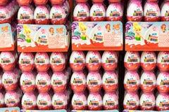 Miłej niespodzianki Czekoladowi jajka Fotografia Stock