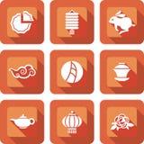 Mi ensemble chinois d'icône de festival d'automne illustration de vecteur
