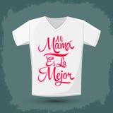 Mi ES妈妈la Mejor -我的妈妈是最佳的西班牙文本 库存照片