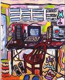 Mi escritorio Fotografía de archivo libre de regalías