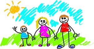 Mi familia stock de ilustración