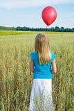 Mi globo rojo Fotos de archivo libres de regalías