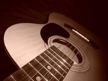 Mi guitarra; la música es vida Imagen de archivo libre de regalías