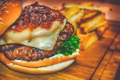 Mi hamburguesa del desayuno foto de archivo libre de regalías