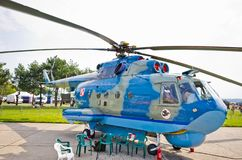 Mi-14 Helicopter on Radom Airshow, Poland. Radom, Poland - August 26, 2017: Mi-14 Helicopter on Airshow Radom. One of most famous aviation events in central royalty free stock photography