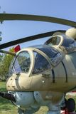 MI-24 helicopter. In Zanka, Hungary royalty free stock images