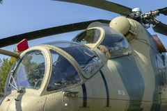 MI-24 helicopter. In Zanka, Hungary royalty free stock image