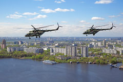 Mi-8 helicopters Royalty Free Stock Image
