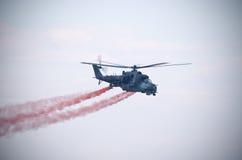 Mi-24 helikopter na Radomskim Airshow, Polska Fotografia Royalty Free