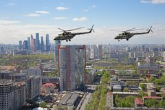 Mi-8 helikopters Royalty-vrije Stock Foto