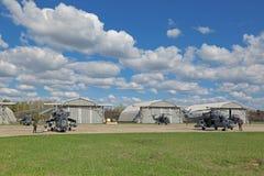 Mi-35 helikopters Stock Afbeelding