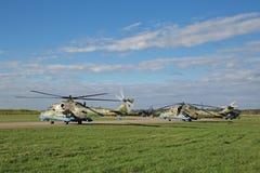 Mi-24 helikopters Stock Afbeeldingen