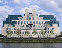 MI6 högkvarter, Vauxhall, London Royaltyfri Foto