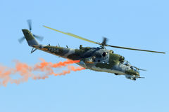 Mi-24 Hind attack helicopter Royalty Free Stock Photography