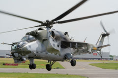 Mi-24 Hind attack helicopter Royalty Free Stock Images
