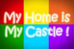 Mi hogar es mi concepto del castillo foto de archivo