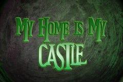 Mi hogar es mi concepto del castillo Fotos de archivo