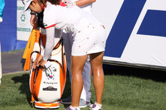 Mi Hyang Lee at the ANA inspiration golf tournament 2015 Royalty Free Stock Photos