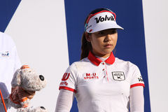 Mi Hyang Lee at the ANA inspiration golf tournament 2015. RANCHO MIRAGE, CALIFORNIA - APRIL 01, 2015 : Mi Hyang Lee ofd south korea at the ANA inspiration golf royalty free stock photo