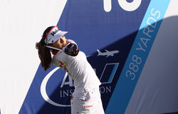 Mi Hyang Lee at the ANA inspiration golf tournament 2015 Stock Photography