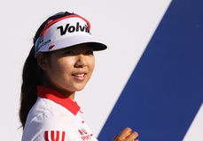Mi Hyang Lee at the ANA inspiration golf tournament 2015 Royalty Free Stock Image