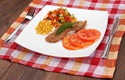 Mięso i warzywa Fotografia Royalty Free