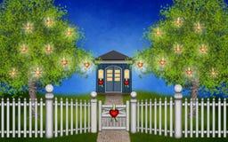 Mi jardín mágico de la tarjeta del día de San Valentín Imagenes de archivo