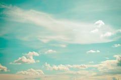 Miękka rocznik chmura, niebo i Obrazy Stock