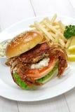 Miękka skorupa kraba kanapka Obrazy Stock
