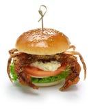 Miękka skorupa kraba kanapka Zdjęcie Royalty Free