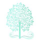 Miękki akwareli drzewo Obraz Stock