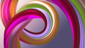 Mi?kki kolor t?czy gumowego zespo?u marshmallow cukierku linowej bezszwowej p?tli kszta?ta animacji 3D wyginaj?cy si? abstrakcjon royalty ilustracja