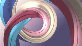 Mi?kki kolor t?czy gumowego zespo?u marshmallow cukierku linowej bezszwowej p?tli kszta?ta animacji 3D wyginaj?cy si? abstrakcjon ilustracji