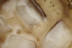 Miękki napój z kostka lodu odgórnym widokiem Obrazy Royalty Free