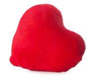 Miękki pluszowy serce odizolowywa Obrazy Stock