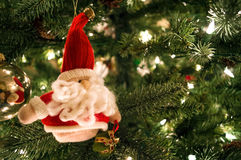 Miękki Santa ornament Zdjęcia Stock