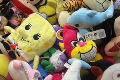 Miękkie colourful zabawki dla dzieciaków Zdjęcia Stock
