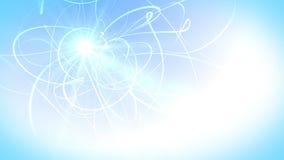 Miękkie niebieskie linie i energia zbiory wideo