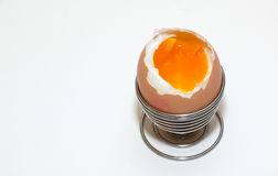 miękkie przegotowanej jajeczna Zdjęcie Stock