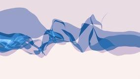 Mi?kkiego jedwabiu dymu falowania cyfrowej symulacji tasiemkowego delikatnego sp?ywowego niespokojnego abstrakcjonistycznego ilus ilustracja wektor