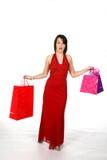 miła kobieta torby na zakupy Zdjęcia Stock