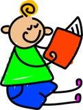 Mi libro de lectura ilustración del vector