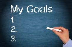 Mi lista de las metas fotografía de archivo