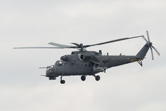Mi-35M attack helicopter Royalty Free Stock Photo